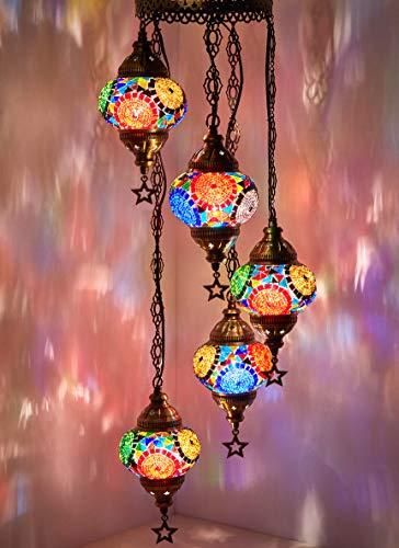Mosaic Chandelier,Mosaic Lamp,Turkish Lamp,Moroccan Lantern (Lanterns Cheap Moroccan Large)