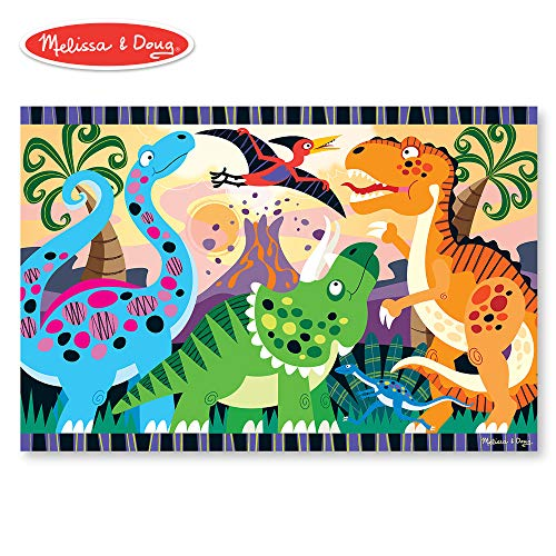 - Melissa & Doug Dinosaur Dawn Jumbo Jigsaw Floor Puzzle (24 pcs, 2 x 3 feet)