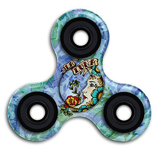 Aeivans Old School Tattoo Moon Art La Luna Relief Toy Hand Spinner Fidget
