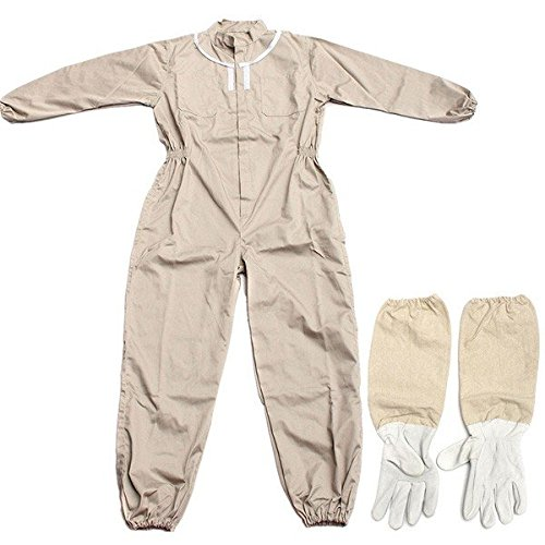 Pink Lizard Pure Cotton Beekeeping Suit Bee Suit Heavy Duty Space Suit Leather Ventilated Bee Keeping Gloves