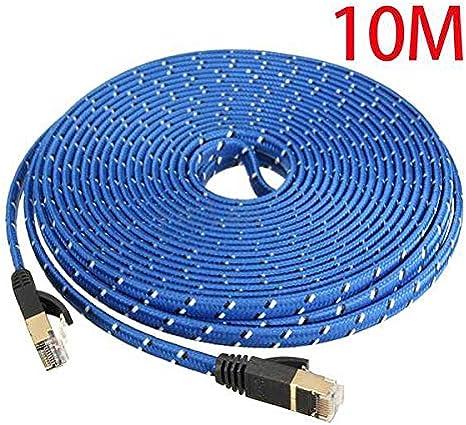 Top Deals 1M//1.8M//3M//5M//8M//10M RJ45 CAT 7 CAT7 Ethernet Internet LAN Patch Network Flat Cable Cord CHUN-Accessory