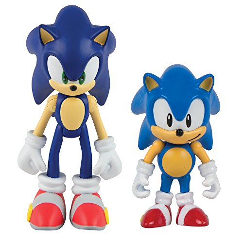 Tomy Sonic Collector Series 2 Figure Pack With Comic  Classic Sonic   Modern Sonic