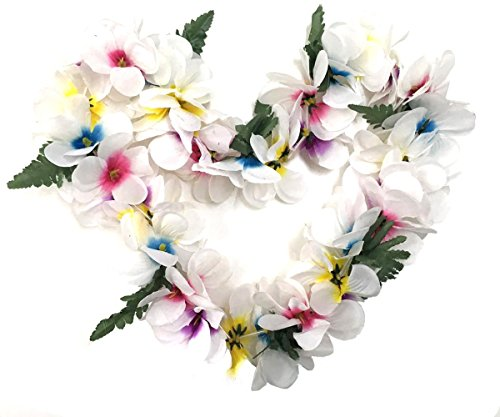 Hawaiian Plumeria Leis - BOSHENG Hawaiian Plumeria Flower Leis Necklaces for Party Event,Christmas Decoration