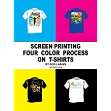 Screen Printing Four Color Process on T-shirts