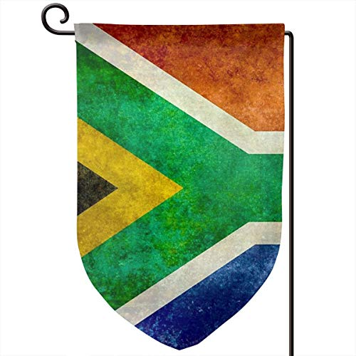 Hucuery Seasonal Garden Flag, National Flag of The Republic of South Africa Vertical Double-Sided 12.5 X 18 in Courtyard Decoration Durable, Lovely Gifts -