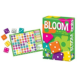 Gamewright Bloom – The Colorful Wild Flower Roll and Write Dice Game, Multi-Colored, 5""