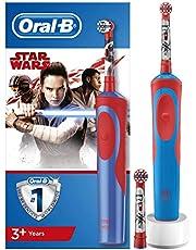 Oral-B Kids Oplaadbare Elektrische Tandenborstel Voor Kinderen Met Disneyfiguren Star Wars, 1 Handvat, Opzetborstel x2