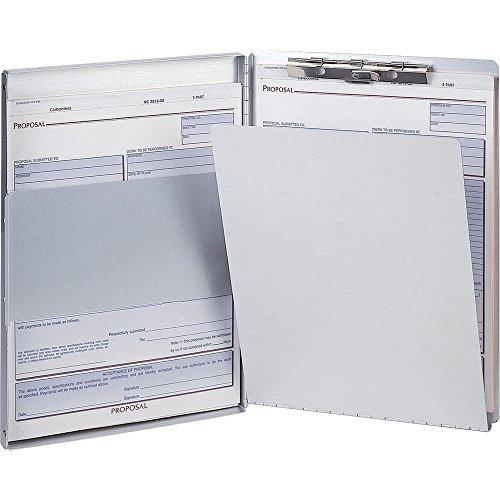 Officemate International Corp. 83203 Aluminum Side Loading Form Holder w/Storage, ()