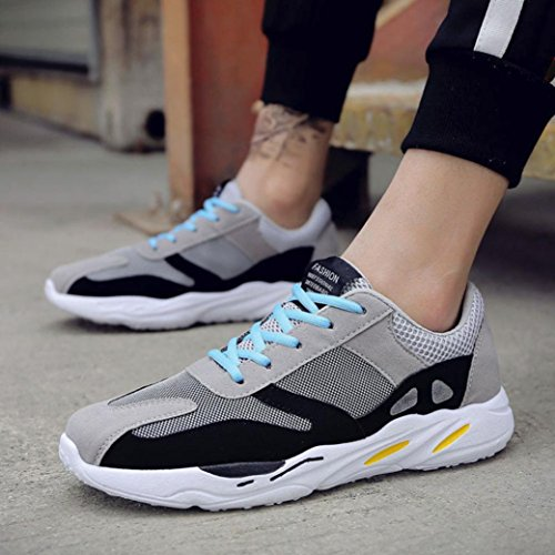 Thongs Patchwork Lace Walking Wedge Men's Sport Outdoor Trainers for Shoes Sports Shoes VEMOW Women Grey Breathable Flip Flats Espadrilles Sneakers Flops Men Running up Casual qCvHA1w