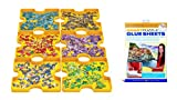 EuroGraphics Puzzle Accessory Kit: Sorting Trays + Sticky Sheet, Yellow