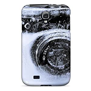 Premium Durable Creative Wallpaper Frozen Camera Fashion Tpu Galaxy S4 Protective Case Cover