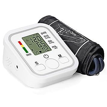 Tensiómetro de Muñeca Eléctrico Portátil GrandBeing, Monitor de Presión Arterial Digital & Detección Ritmo Cardíaco, ...