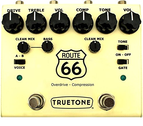 Truetone V3RT66 Route 66 V3 Series Overdrive/Compression Pedal by Truetone