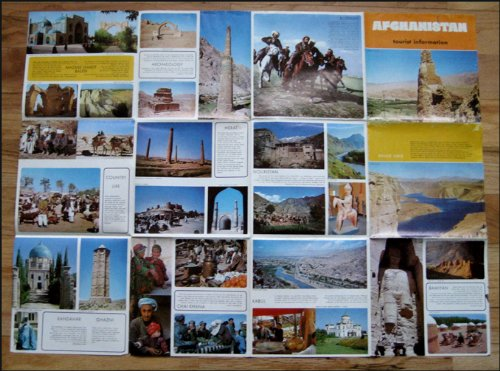 Vintage Afghanistan Tourist Map and Guide...