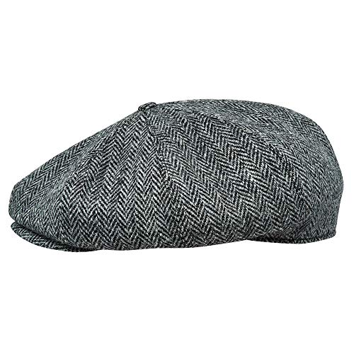 Sterkowski Peaky Blinders Cap | 100% Harris Tweed Newsboy Cap for Men | Classic Elegant 8 Panels Hat