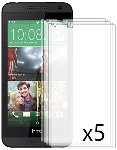Bastex Antiglare Reflective Matte Screen Protector for HTC Desire 610 - 5 Pack (Htc 610 Phone Screen)