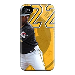Iphone 4/4s Ljt12991CUhM Allow Personal Design Realistic Pittsburgh Pirates Skin Scratch Protection Hard Phone Case -LavernaCooney