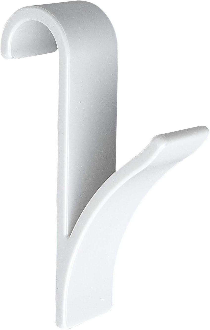 Wenko Gancho para Radiador Toallero, Blanco, 7X3X10.5 cm, 2 Unidades