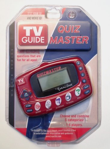EXCALIBUR ELECTRONIC TV Guide Quiz Master Electronic Game TV20