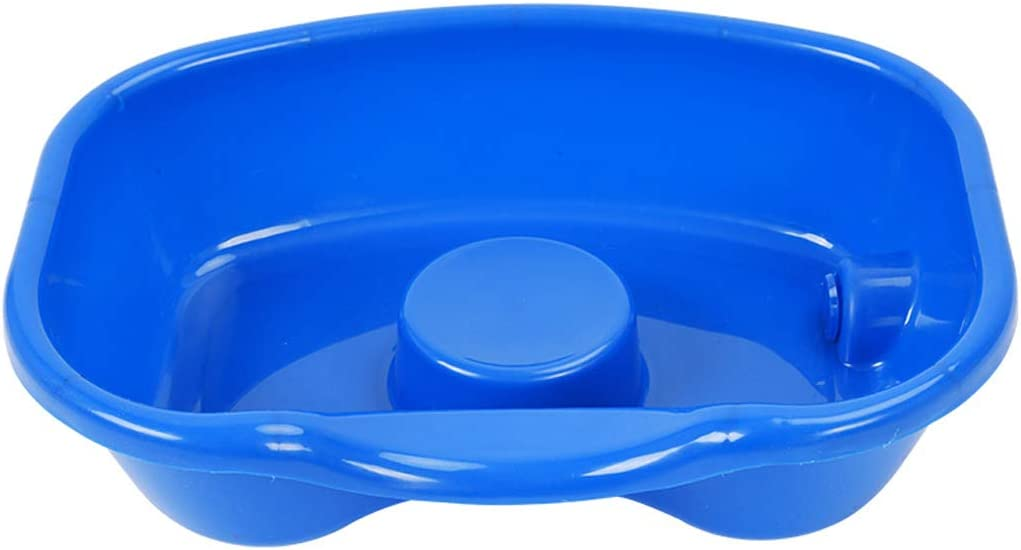 Kengsiren Portable Salon Deep Shampoo Sink Hair Care Bowl with Drain Pipe Suitable for Disabled Women, Paralyzed Patients, Elderly, Children
