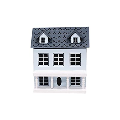 Hoolick 1/12 Tiny Exquisite Dollhouse for Dollhouses with Movable Grey Roof Model Miniature Furniture Dollhouse Accessories: Home & Kitchen