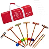 Coca-Cola 24 Piece 6 Player Croquet Set - Complete Game with Carrying Case