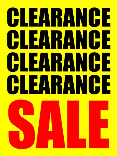 Clearance Sale Store Business Retail Display Signs, 18