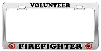 Amazon.com: VOLUNTEER FIREFIGHTER #1 CAR ACCESSORIES CHROME STEEL ...