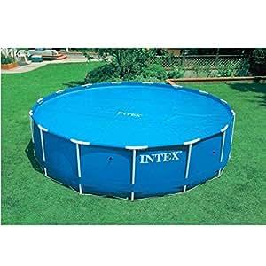 Lona de burbujas piscinas tubulares, 150 g/m², 4,48 m de diámetro, para piscina diámetro: 4,57 m