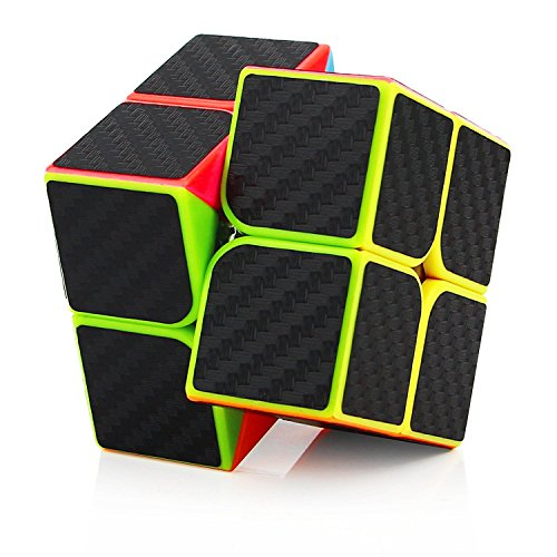 2x2x2 Speed Cube Carbon Fiber Sticker for Smooth Magic Cube Puzzles