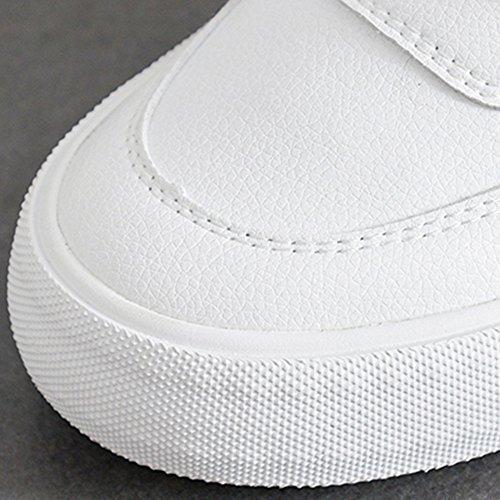 PU mujer Blanco de Nan Zapatos Heel White Shoes Flat White Summer Comfortable Tg6gqxPnwW