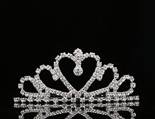 Lovelyshop Mini Heart Rhinestone Tiara Shaper for Wedding Bride Prom Birthday Pegeant Prinecess Party by (Party City Tiaras)