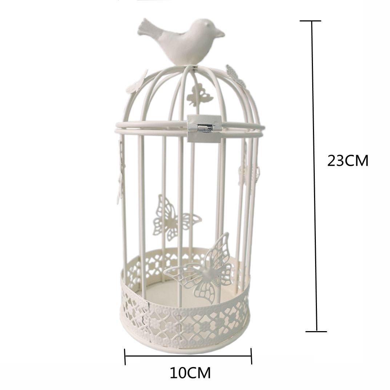 Jaula para pájaros decorativa JAROWN de metal. Portavelas ...