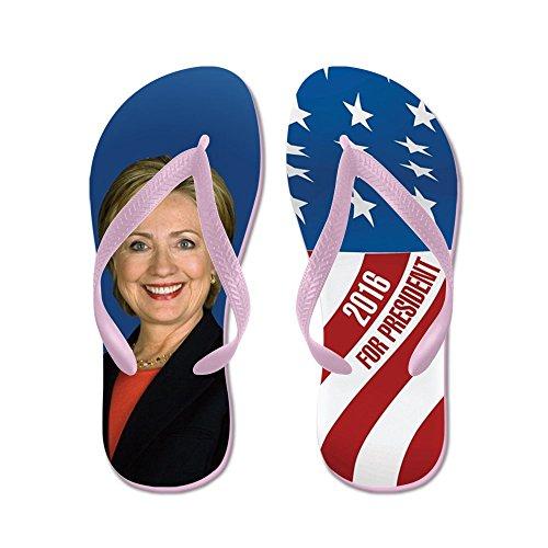 Cafepress Hillary Voor President 2016 - Flip Flops, Grappige String Sandalen, Strand Sandalen Roze