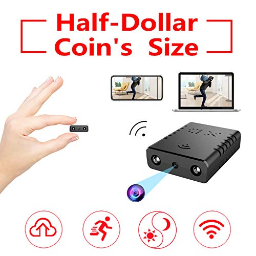 Smallest Spy Camera Wireless Hidden WiFi,Rettru IP HD Nanny Camera with Night Vision,AI Human Motion Detection,Cloud Storage,Live Feed Streaming,Remote Viewing for Security on iOS,Android Phone APP