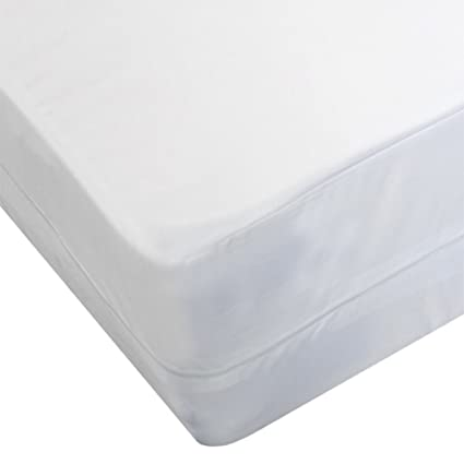 Bedding Care Uk - Funda de colchón Impermeable antialérgico con Protector de Cremallera para Polvo,