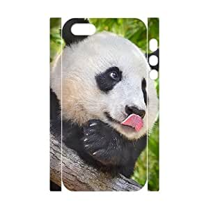 3D IPhone 5,5S Cases the Panda Sticking out His Tongue, [White]