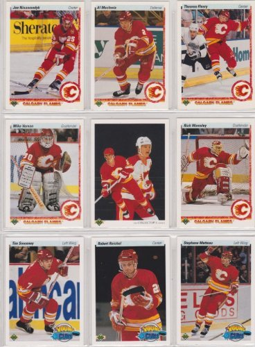 - Calgary Flames 1990-91 Upper Deck Team Set w/ High Numbers (25 Cards) (Premier Upper Deck Hockey Issue)