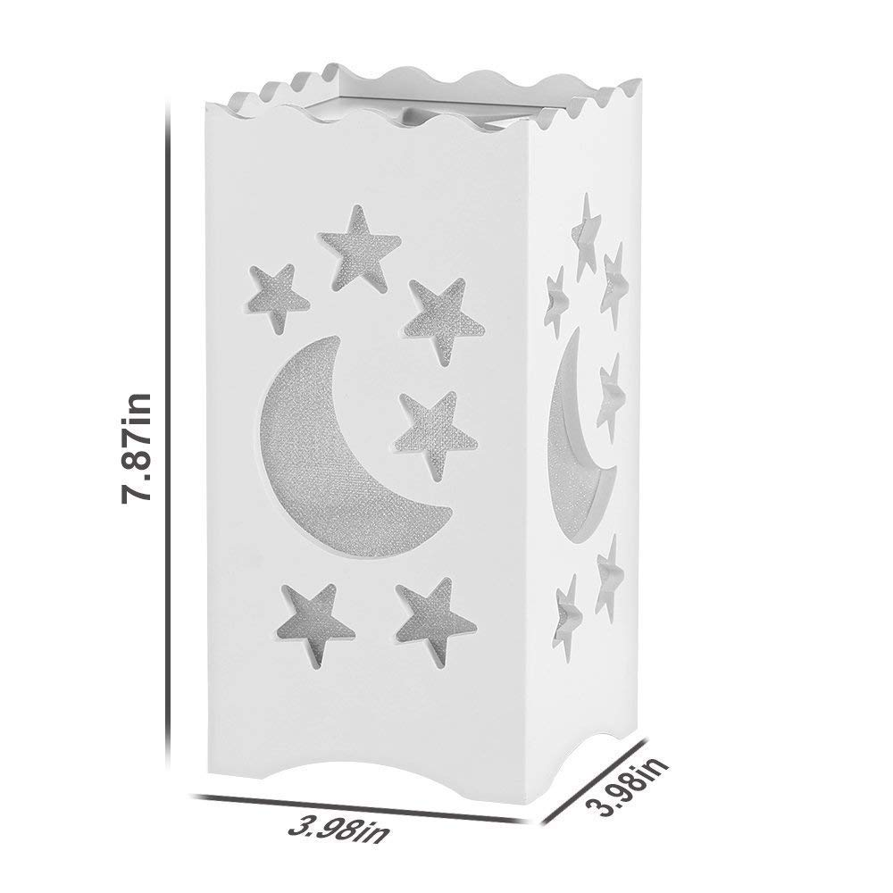 Kids Night Light Table Light White Art Light with Moon and Star Shaped Carving, Desk Lamp Night Light for Nursery,Bedroom(Star) by Dengbaba (Image #3)