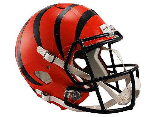 Nfl Helmet Replica Deluxe - Riddell NFL Cincinnati Bengals Full Size Replica Speed Helmet, Medium, Orange