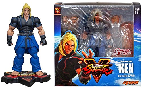 Street Fighter V Ken Exclusive Action Figure [Blue Costume] The Eternal Rival Exclusive Storm Collectibles Capcom 7
