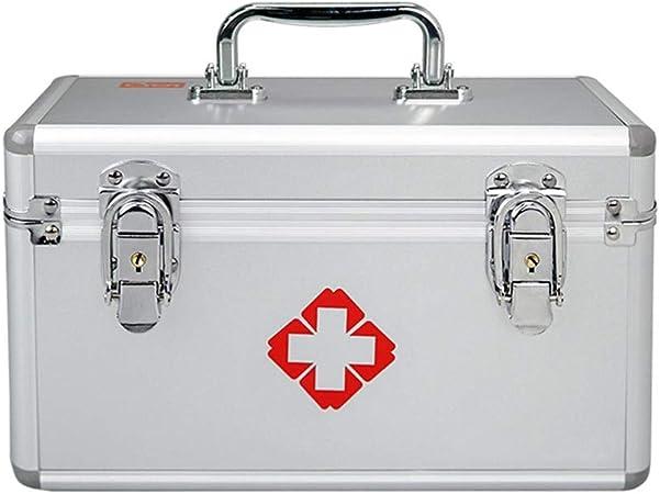 Botiquín LCSHAN Caja de medicamentos Caja de Almacenamiento de Primeros Auxilios de Aluminio para el hogar Caja de Almacenamiento portátil 16 Pulgadas Grande: Amazon.es: Hogar