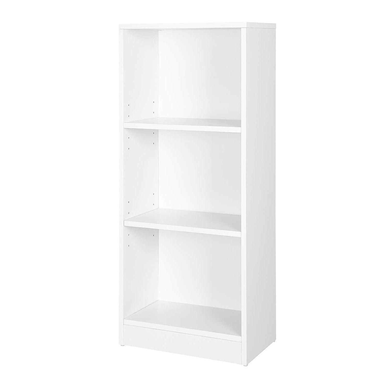 VASAGLE 3-Tier Wooden Bookcase with Adjustable Shelves, File Organiser Rack, 40 x 24 x 93 cm (W x D x H), Oak LBC103H