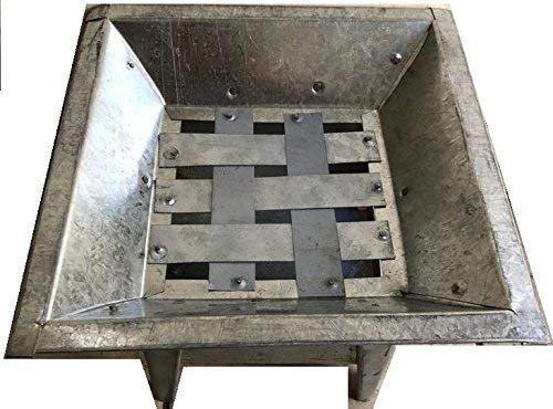 always-quality Mexican All Metal Brasero BBQ Grill Fire Pit Outdoor Stove 13.5''x13.5'' Made in Mexico by always-quality