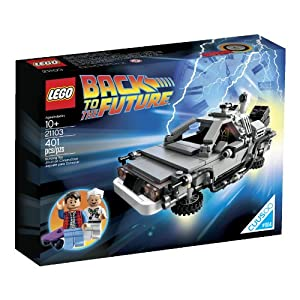51xG1NnNV7L. SS300  - LEGO The DeLorean Time Machine Building Set 21103 (Discontinued by manufacturer)