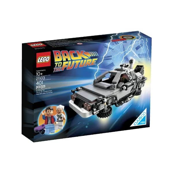 51xG1NnNV7L. SS600  - LEGO The DeLorean Time Machine Building Set 21103 (Discontinued by manufacturer)