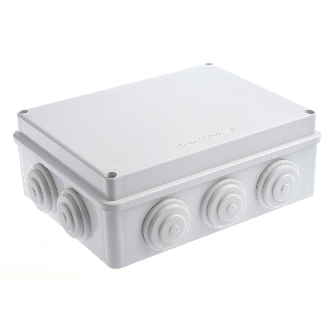Junction Box - SODIAL(R) White ABS IP65 Waterproof EnClosure Junction Box 200mmx155mmx80mm