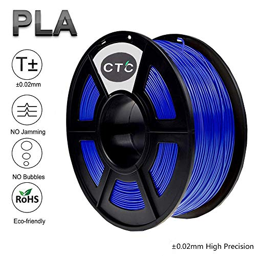 CTC 3D Printer Filament PLA 1.75mm - Blue(Dimensional Accuracy +/- 0.02 mm) Environmentally Friendly PLA 3D Filament for 3D Printer and 3D Pen