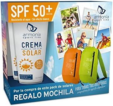 Pack Crema Solar 2x150ml + Regalo de Mochila Armonia Apta Bebé +6 Meses y Veganos: Amazon.es: Salud y cuidado personal