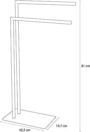 45,5 x 81 x 19,8 cm Sealskin Handtuchst/änder Tube chrom Metall
